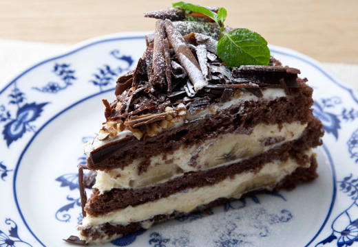 チョコバナナのショートケーキ
